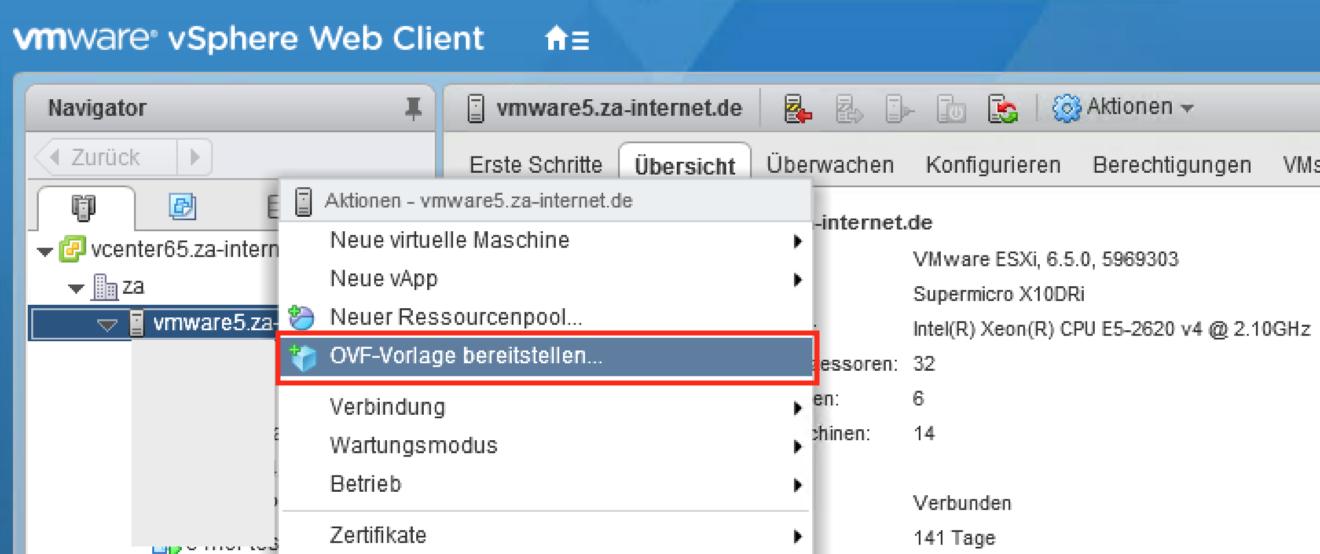 Videoüberwachung/NVR C-MOR auf VMware-Server bereitstellen
